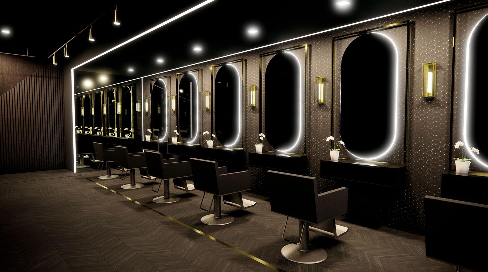 Hair Salon Rendering